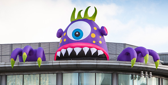 Monster themed inflatables