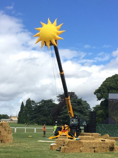 Inflatable sun - Countryfile