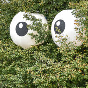 Inflatable eyeballs
