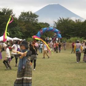 Fire tubes - Asagiri Festival, Japan - Mount Fuji