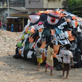 Rubbish monster, India