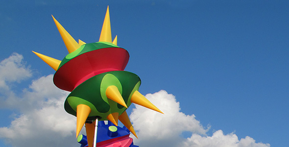 Aerial based inflatables